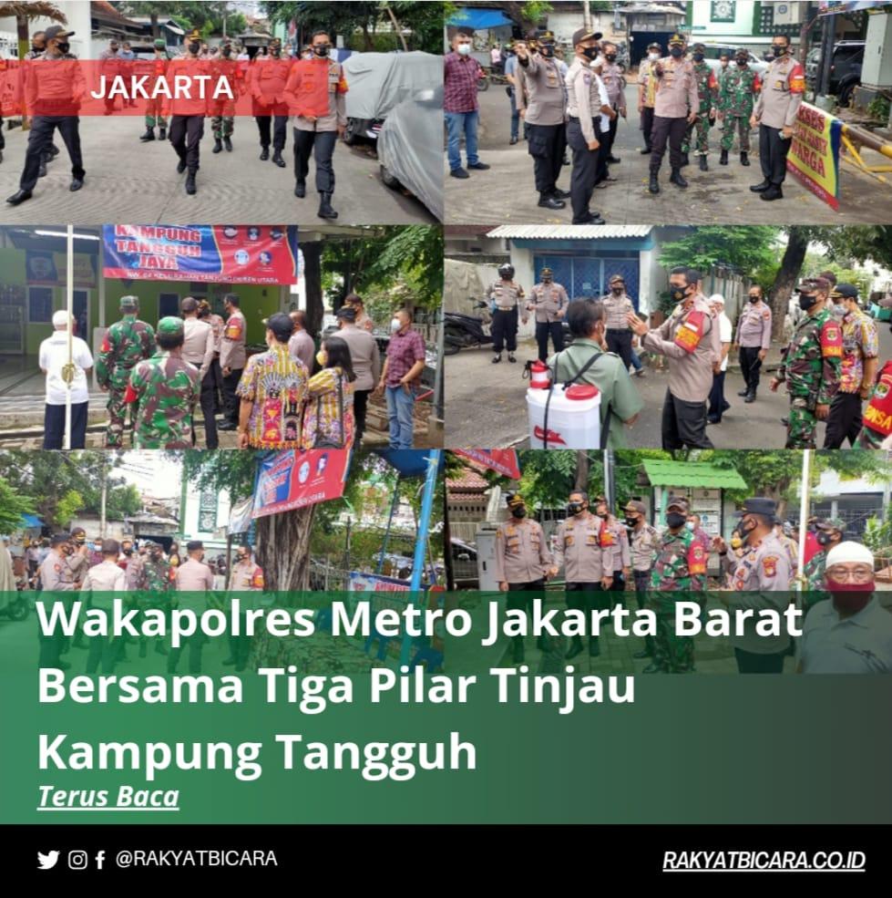Wakapolres Metro Jakarta Barat Bersama Tiga Pilar Tinjau Kampung Tangguh