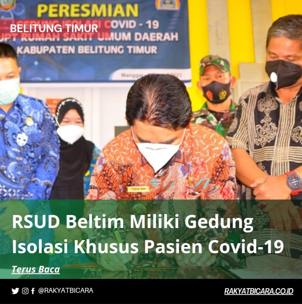 RSUD Beltim Miliki Gedung Isolasi Khusus Pasien Covid-19