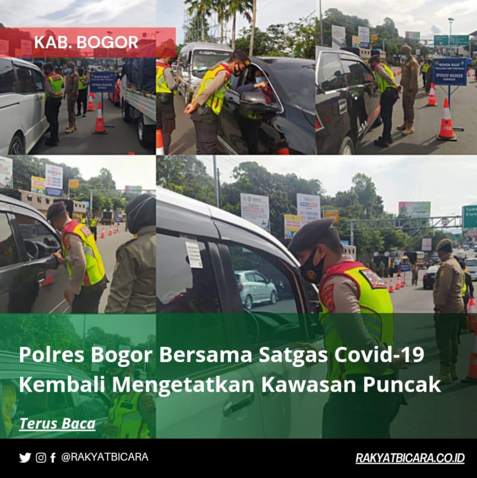 Polres Bogor bersama Satgas Covid-19 Kembali mengetatkan Kawasan Puncak di masa PPKM