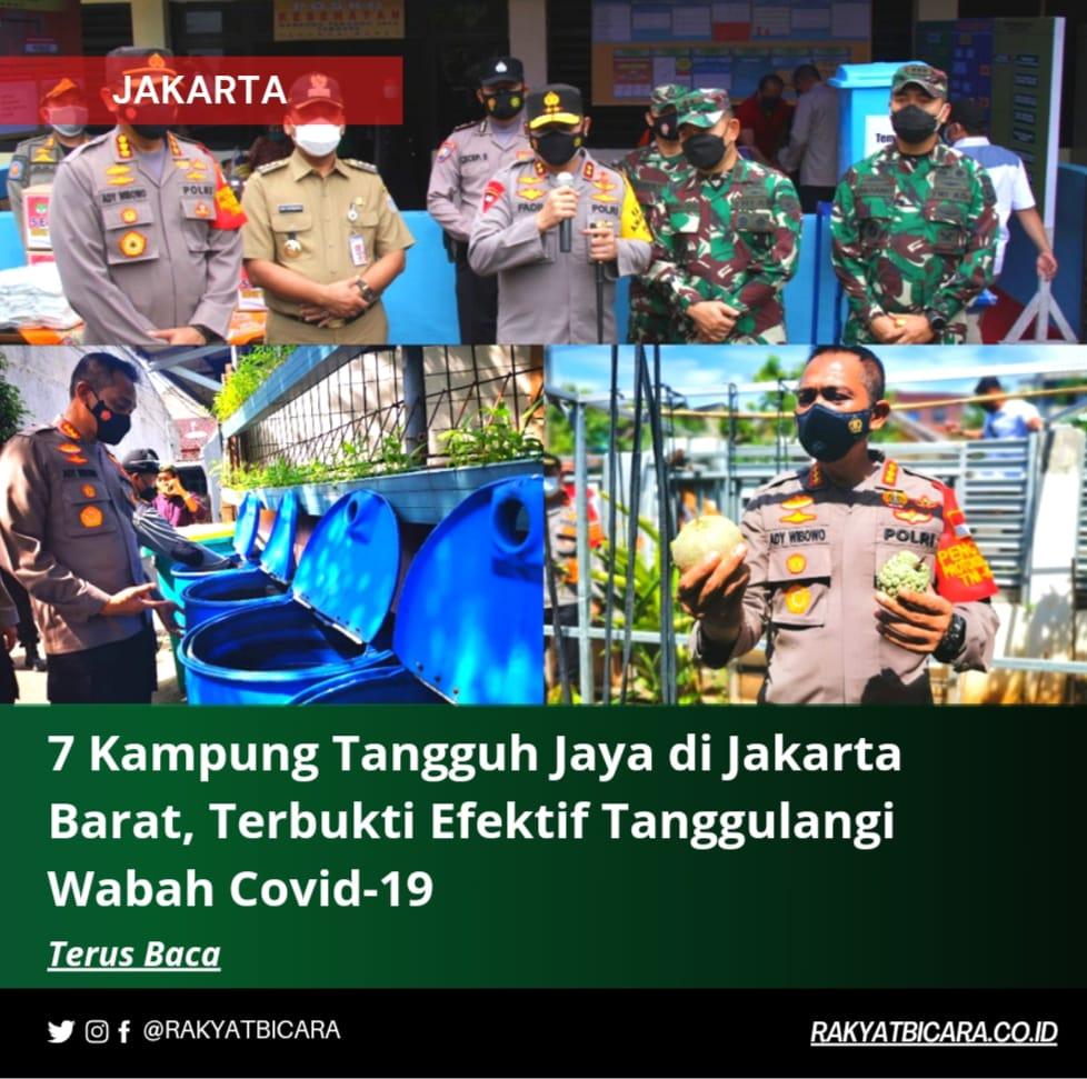 7 Kampung Tangguh Jaya Di Jakarta Barat Terbukti Efektif Tanggulangi Wabah Covid-19