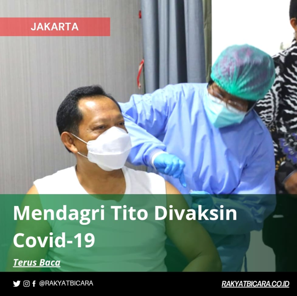 Mendagri Tito Divaksin Covid-19