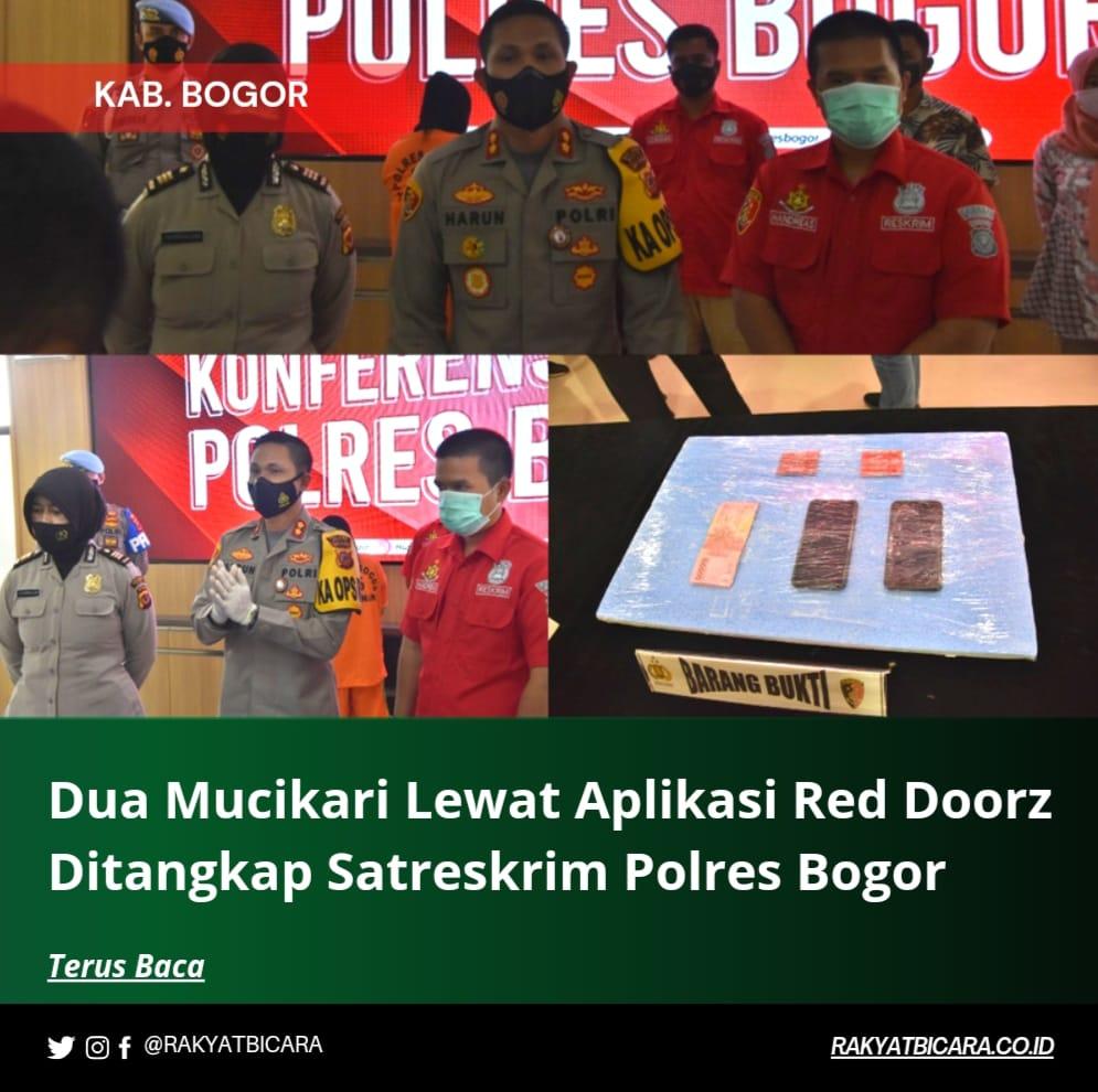 Dua Mucikari Lewat Aplikasi Red Doorz Ditangkap Satreskrim Polres Bogor