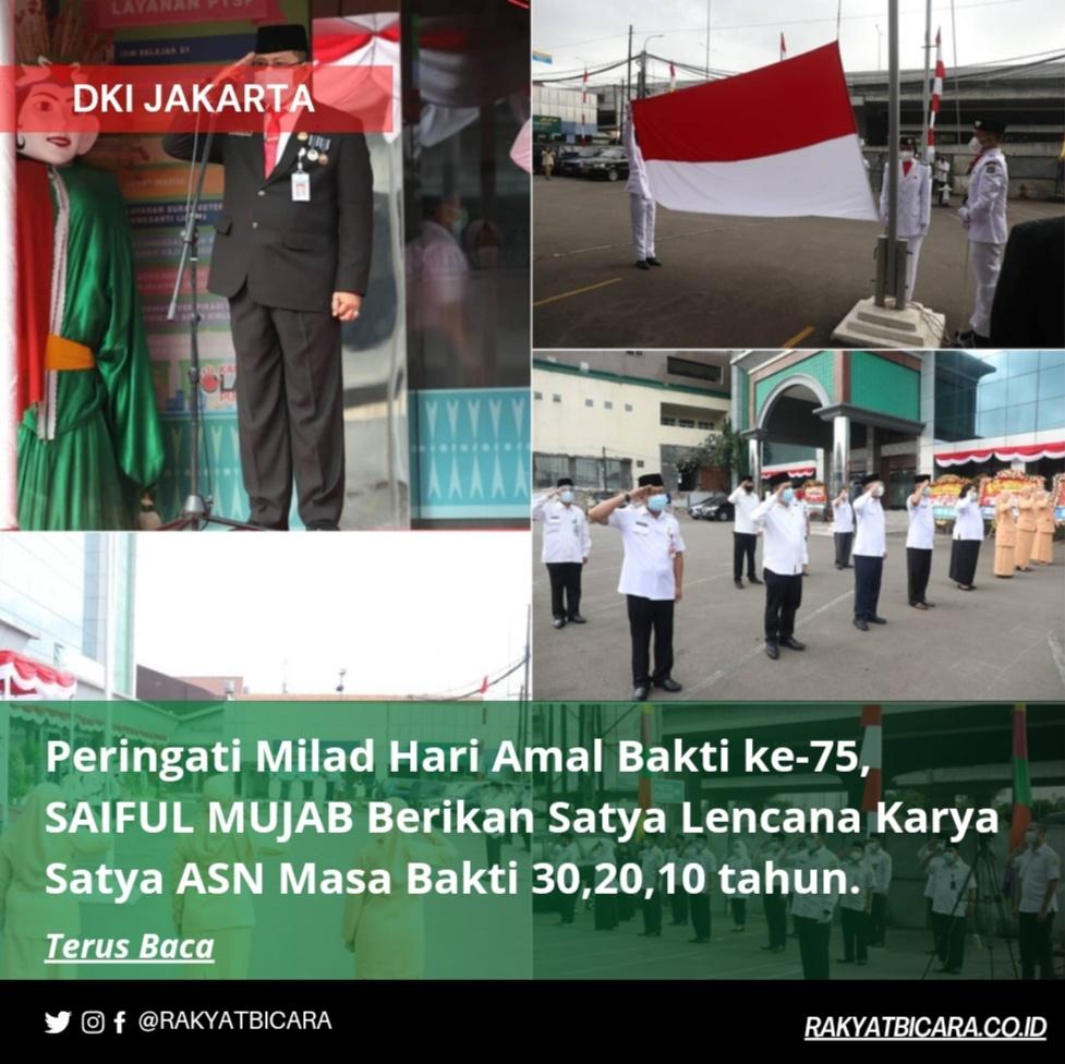 Peringati Hari Amal Bakti ke-75, Saiful Mujab Berikan Satya Lencana Karya Satya ASN Masa Bakti 30,20,10 Tahun