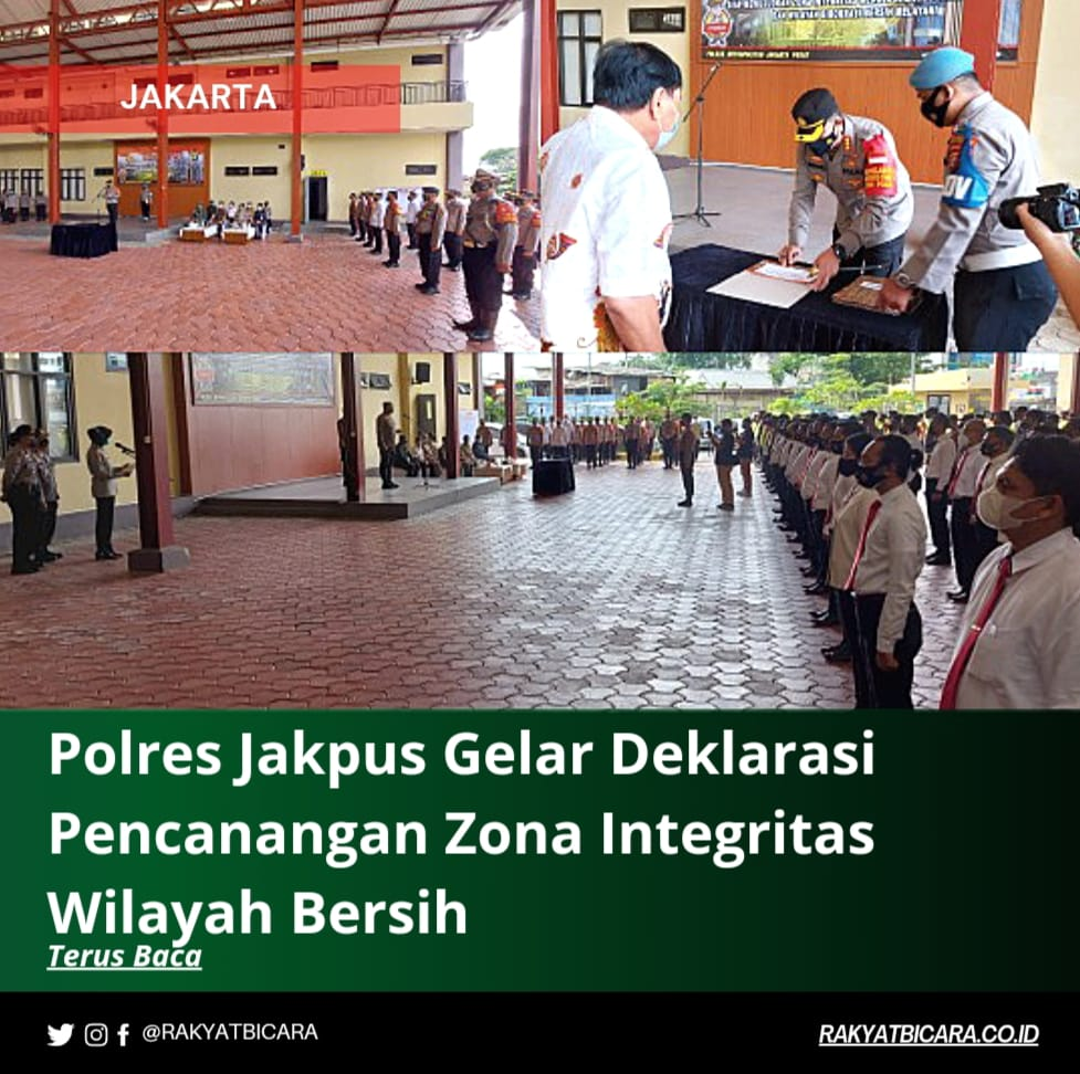 Polres Jakpus Gelar Deklarasi Pencanangan Zona Integritas Wilayah Bersih