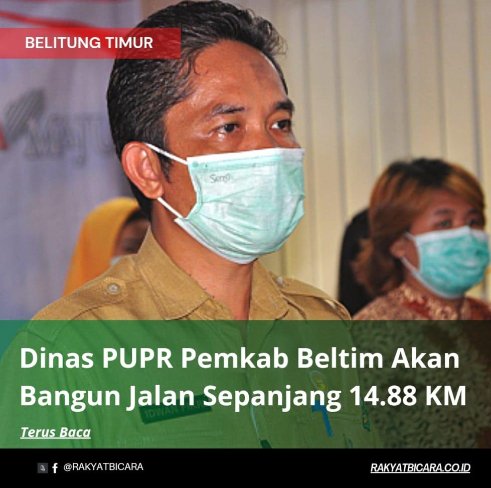 Dinas PUPR Kab. Beltim Akan Bangun Jalan Sepanjang 14.88 KM