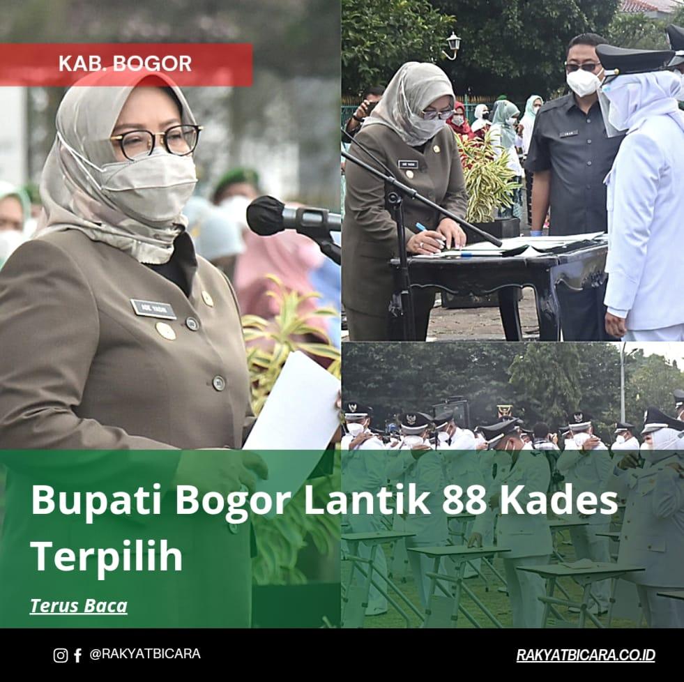 Bupati Bogor Lantik 88 Kades Terpilih