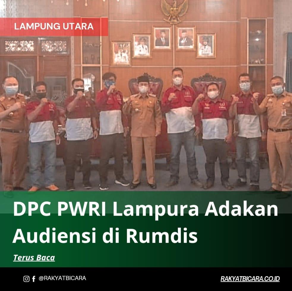DPC PWRI Lampura Adakan Audiensi di Rumdis