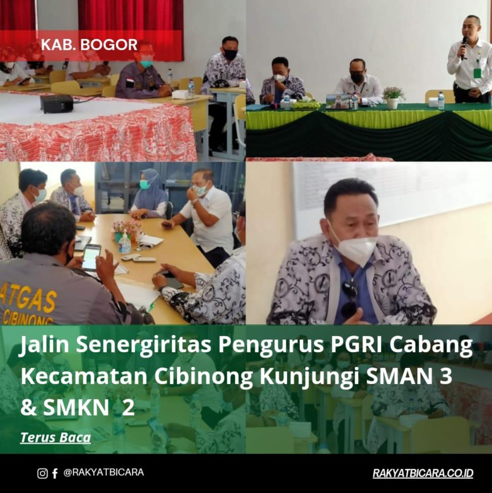 Jalin Senergiritas Pengurus PGRI Cabang Kecamatan Cibinong Kunjungi SMAN 3 & SMKN 2