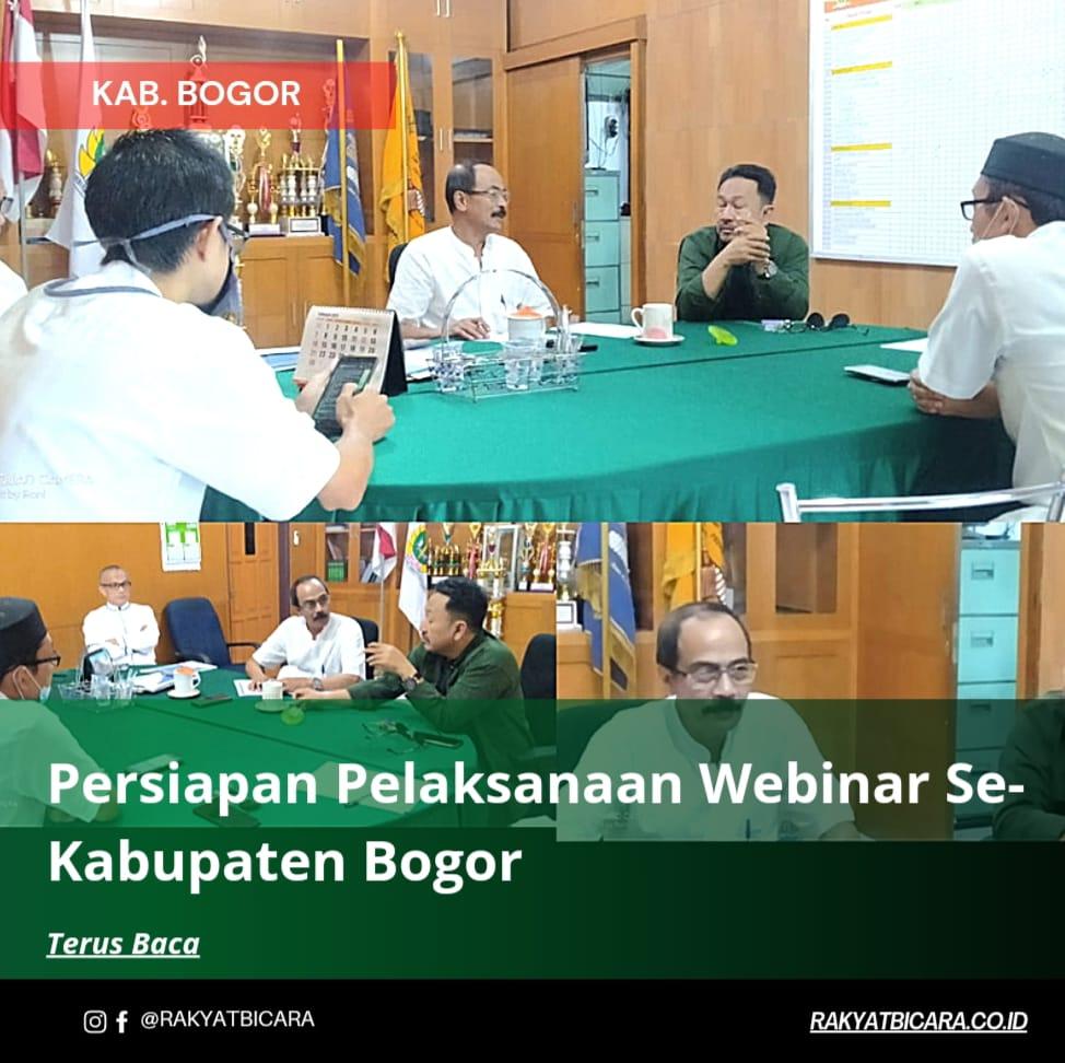 Bahas Persiapan Pelaksanaan Webinar Se-Kabupaten Bogor