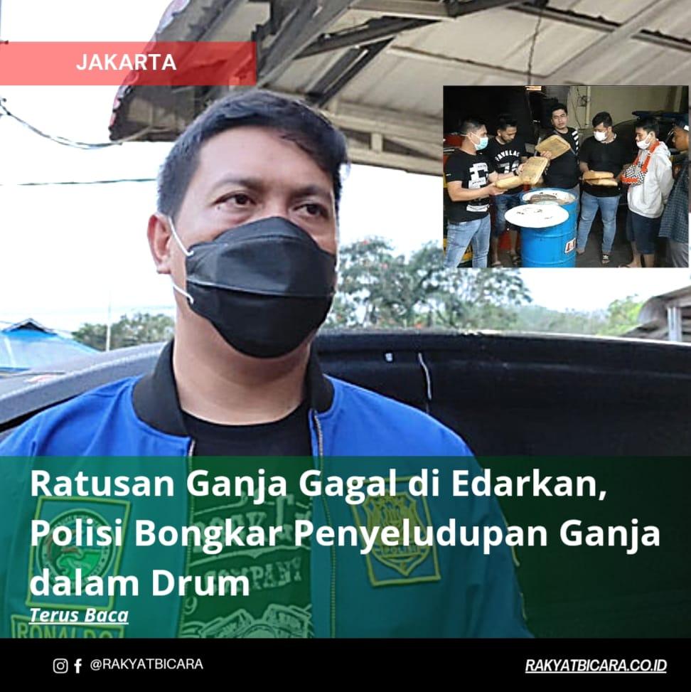Ratusan Ganja Gagal Di edarkan, Polisi Bongkar Penyelundupan Ganja dalam Drum
