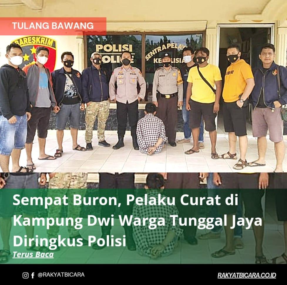 Sempat Buron, Pelaku Curat di Kampung Dwi Warga Tunggal Jaya Diringkus Polisi