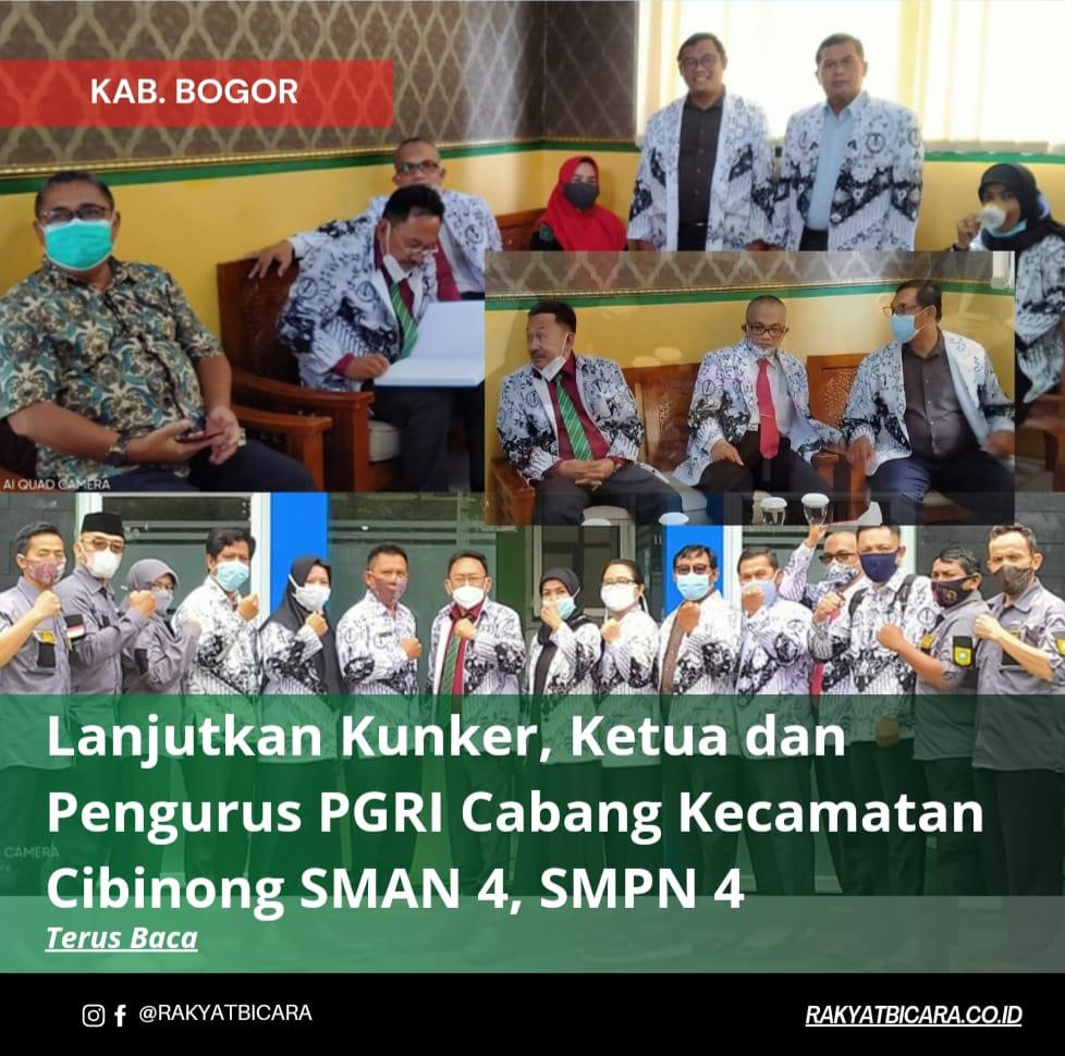 Lanjutkan Kunker, Ketua & Pengurus PGRI Cabang Kecamatan Cibinong SMAN 4, SMPN 4