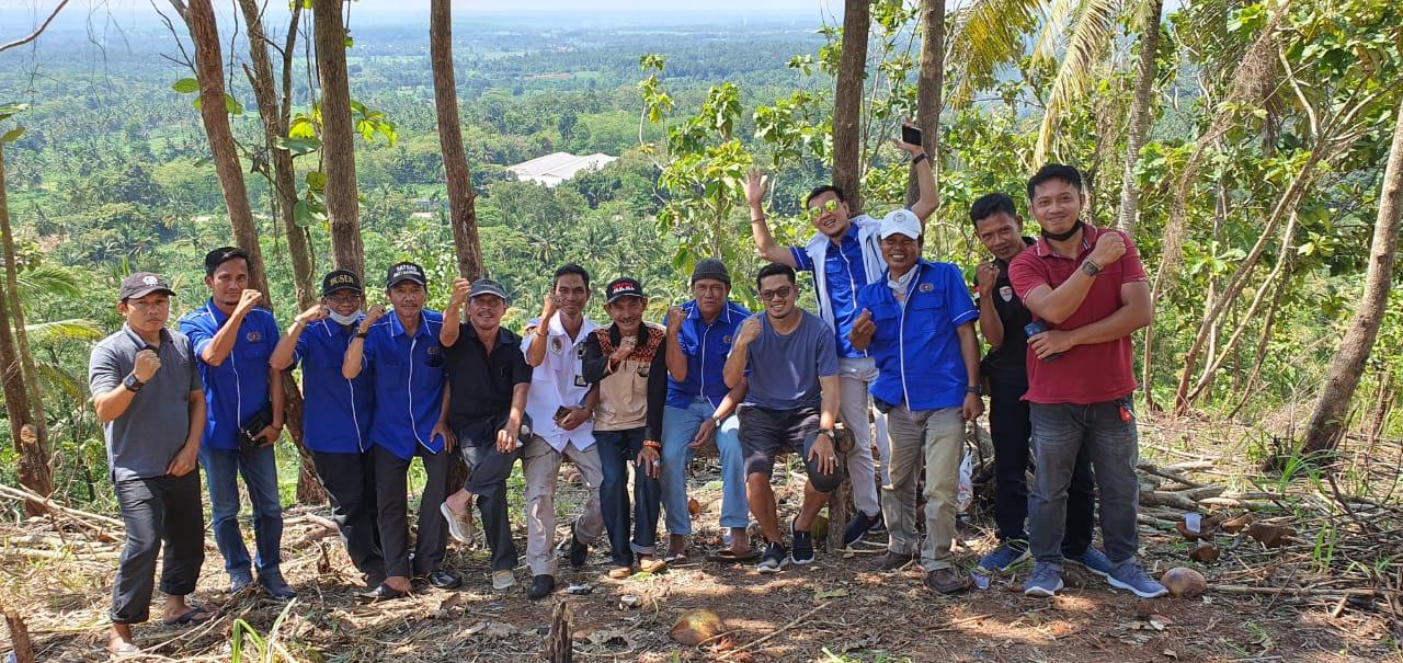 Anjangsana PWI, NGO JPK Dilokasi Pembangunan Pengembangan Puncak Tamiang Lampung Timur