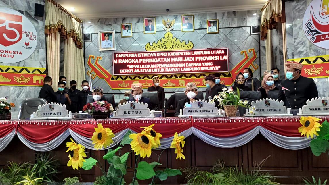 Peringatan Hari HUT Provinsi Lampung Bertajuk Mewujudkan Pembangunan