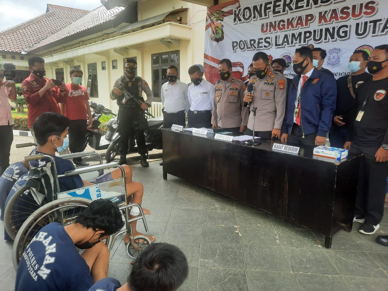Tim Tekab 308 Polres Lampung Utara Lumpuhkan Tersangka Spesialis Curanmor Lintas Provinsi