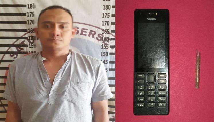 Oknum Honorer Sat Pol PP Ditangkap Satresnarkoba Polres Tulang Bawang