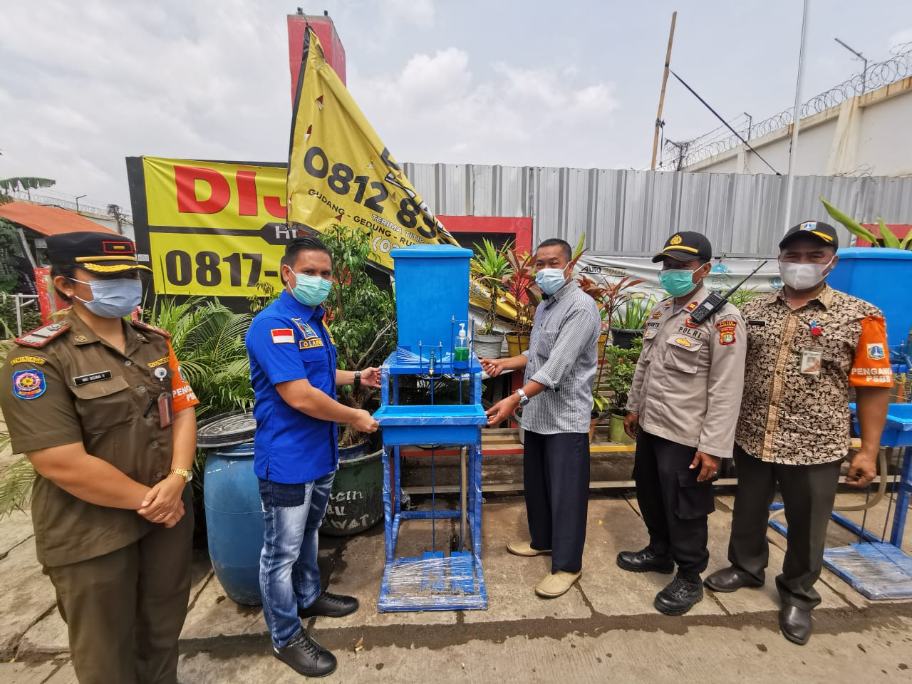 Sat Narkoba Polres Metro Jakarta Barat Resmikan Kampung tangguh Jaya di Rw 11 Cengkareng Timur