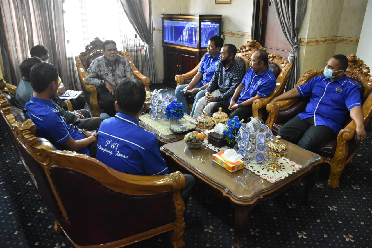 Audensi Antara Wakil Bupati Bersama Anggota PWI Lampung Timur