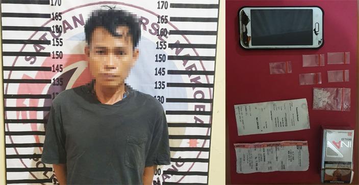 Gerebek Rumah di Banjar Margo, Bandar Narkotika Asal Wiralaga I Ditangkap Polres Tulang Bawang