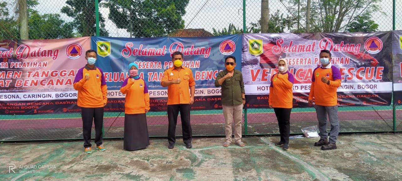 Satgas PGRI Cabang Kecamatan Cibinong Ikut Serta Pelatihan BPBD