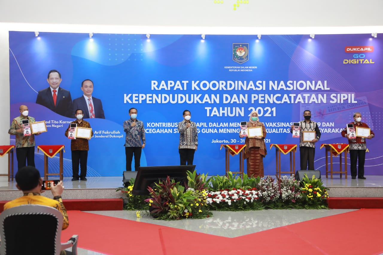 Resmikan Rakornas Dukcapil 2021, Mendagri: Jadikan Momentum Evaluasi