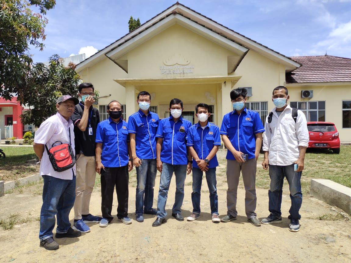 Anggota PWI Lampung Timur dan IKWI Ikuti Vaksin di RSUD Sukadana