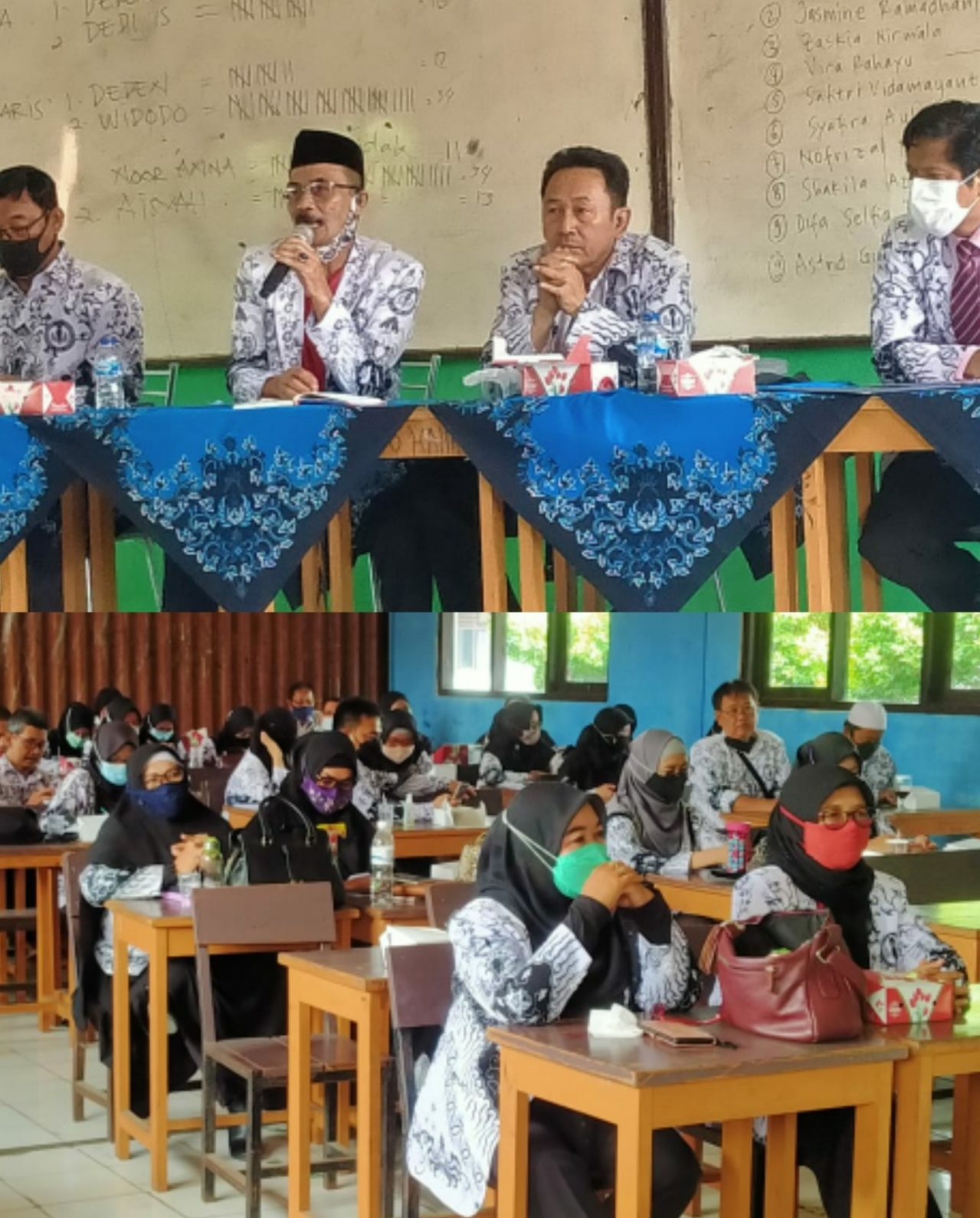 Ketua Dan Pengurus PGRI Cabang Berkunjung Ke SMP PGRI Cibinong