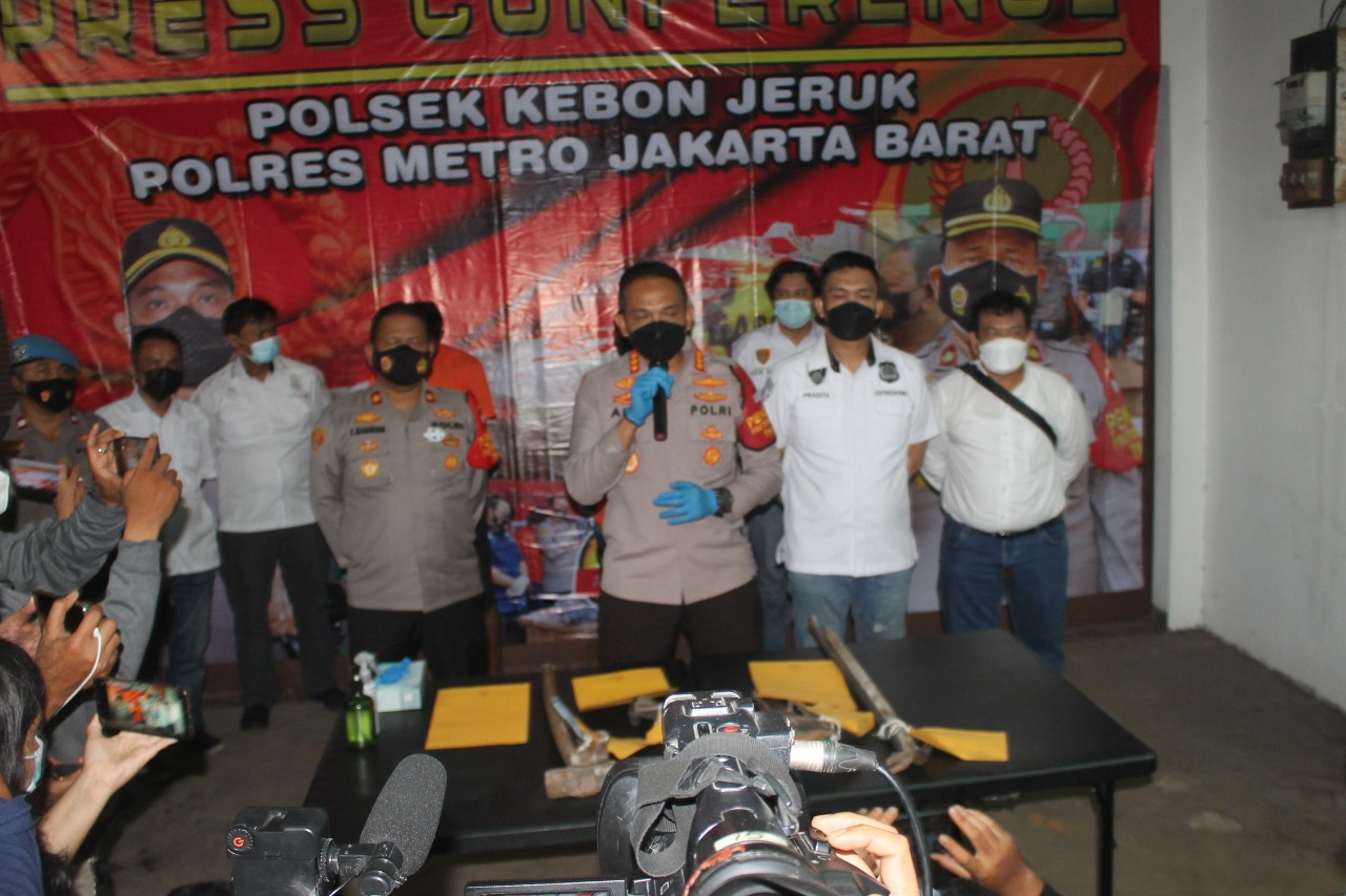 Unit Reskrim Polsek Kebun Jeruk, Ungkap 2 Pelaku Pencurian Rumah Mewah