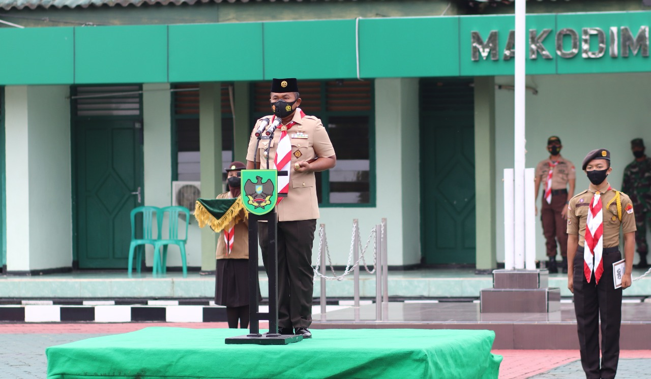 Upacara Pelantikan Anggota SWK dan Pembinaan Pramuka SWK Dihadiri Dandim 0411/LT