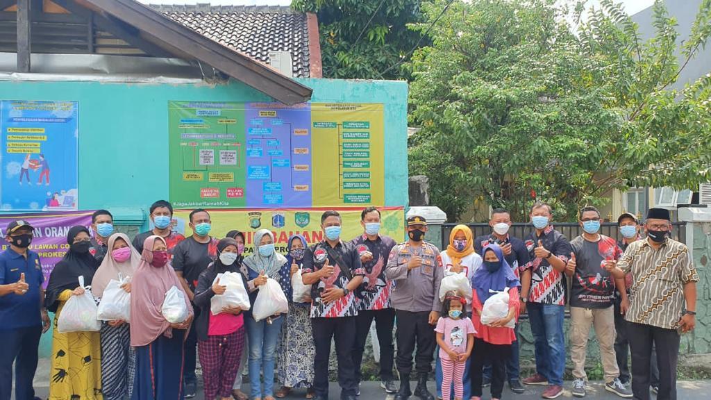 Turunkan Angka Covid-19, Team Sus 4 Sat Narkoba Polres Jakbar Resmikan Kampung Tangguh Jaya di Kebon Jeruk