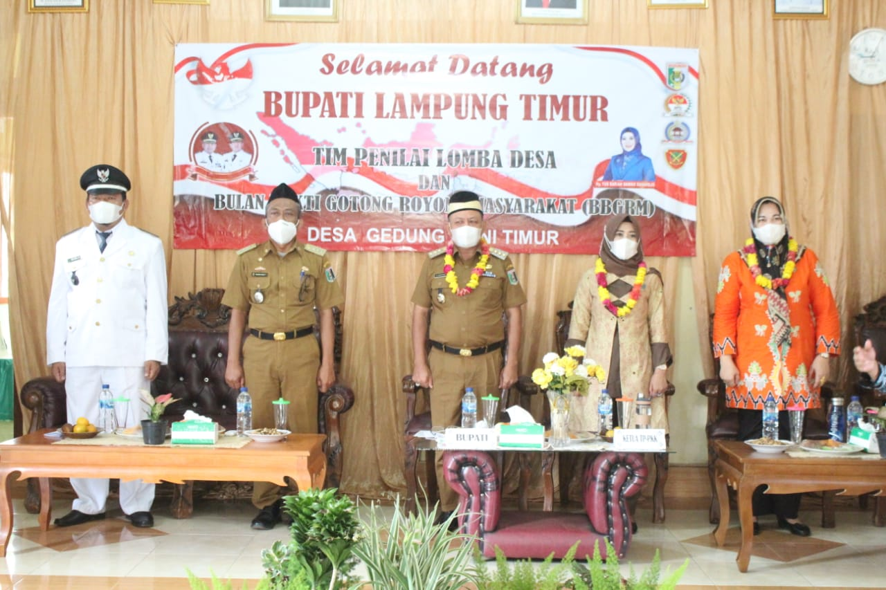 Bupati Lampung Timur Buka Acara Lomba Desa