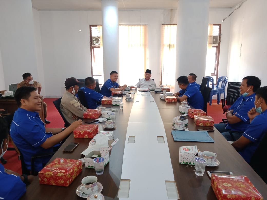 Audensi PWI Diterima Ketua DPRD Lampung Timur