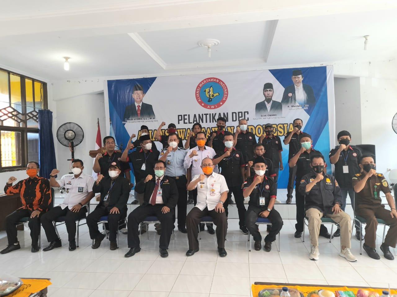 Sekda H. Lekok Menghadiri Pelantikan DPC AWI Kabupaten Lampura