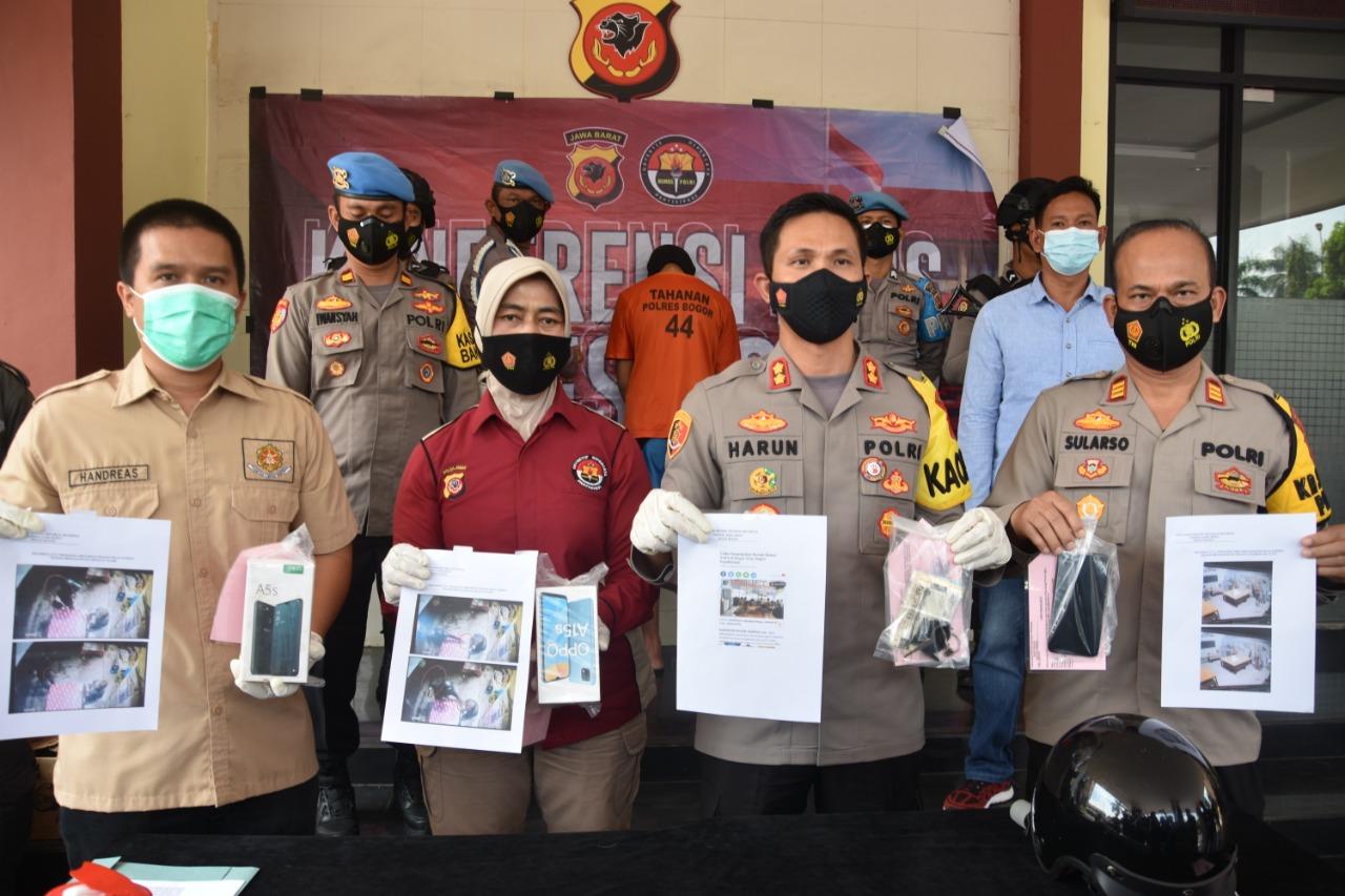 Polres Bogor Berhasil Amankan Pelaku Perampas HP Penyandang Disabilitas