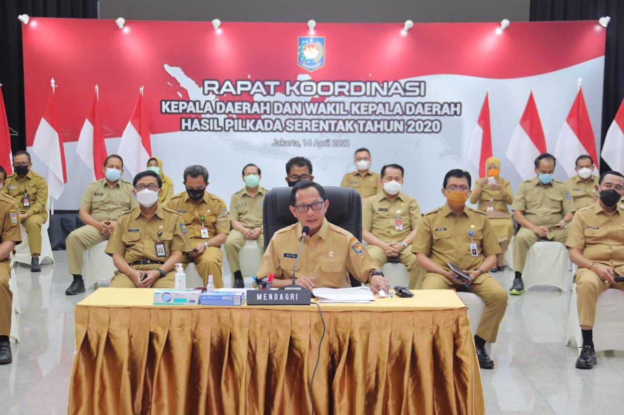 Kemendagri Gelar Rakor Kepala Daerah dan Wakil Kepala Daerah Hasil Pilkada 2020