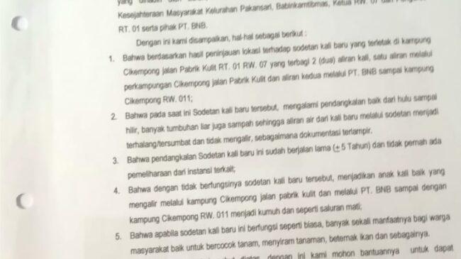 Penumpukan Sampah Kali Kumpa, Saya Sudah Kirim Surat Ke DLH Kab. Bogor