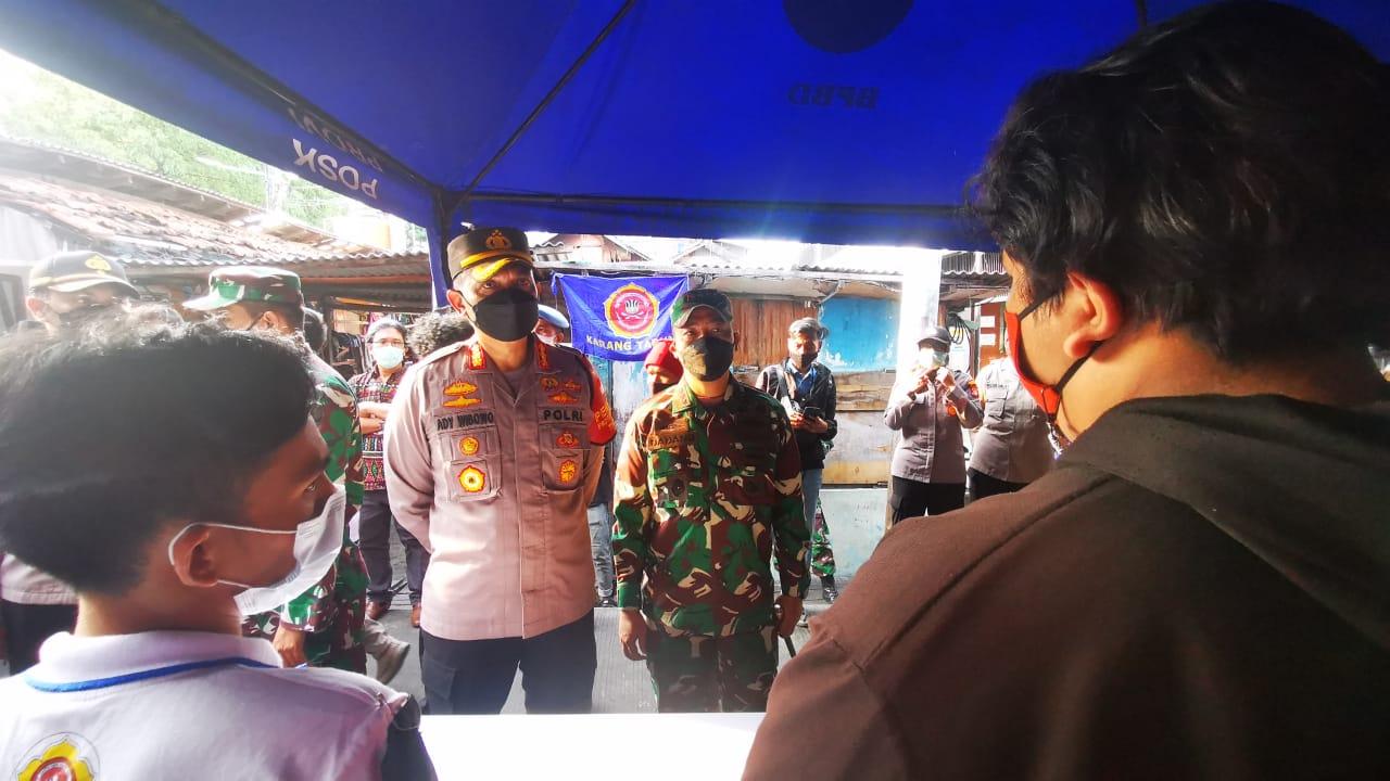 Polisi Buka Posko Pelayanan terpadu, Korban Kebakaran keagungan Taman Sari Bisa Urus Surat Kehilangan