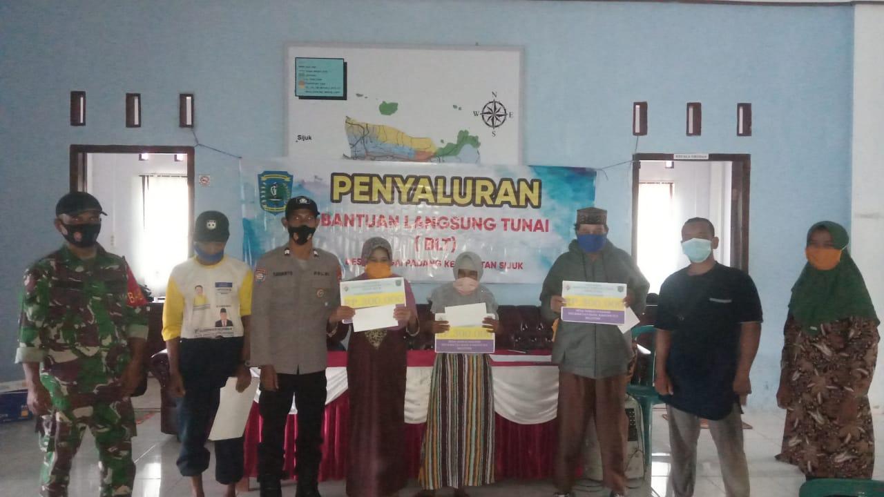 Warga Desa Sungai Padang Penerima BLT-DD Tahap IV/2021 Telah Rampung