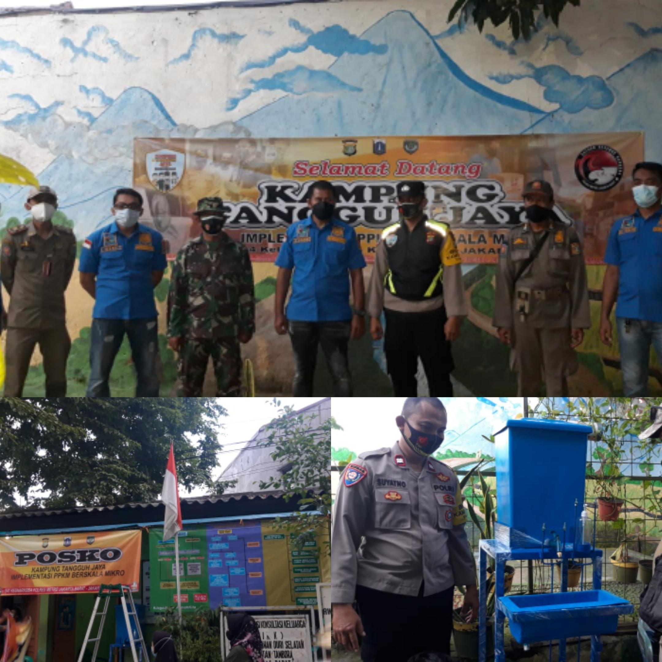Teamsus 3 Sat Narkoba Polres Jakbar Resmikan Kampung tangguh Jaya di Tambora Jakarta Barat