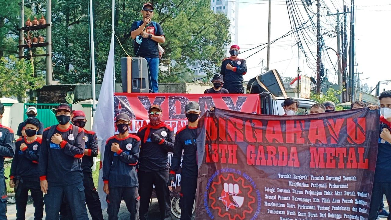 Demo Hari Buruh, Anggota FSPMI Di Gunung Putri Dilakukan Swab