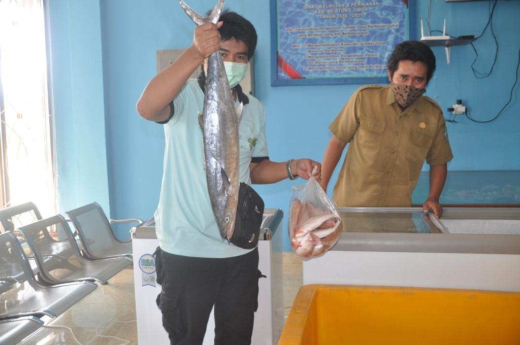 Dinas Perikanan Beltim Gelar Bazar Produk Ikan Segar