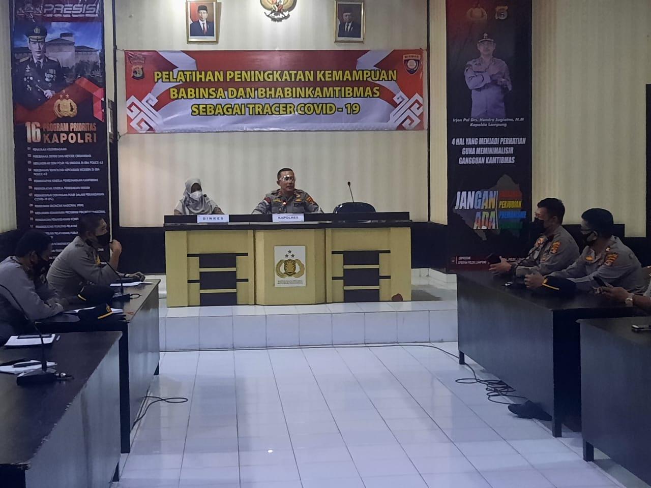 Tekan Penyebaran Covid-19, Kapolres Lampung Utara Instruksikan Seluruh Bhabinkamtibmas Terapkan 3T