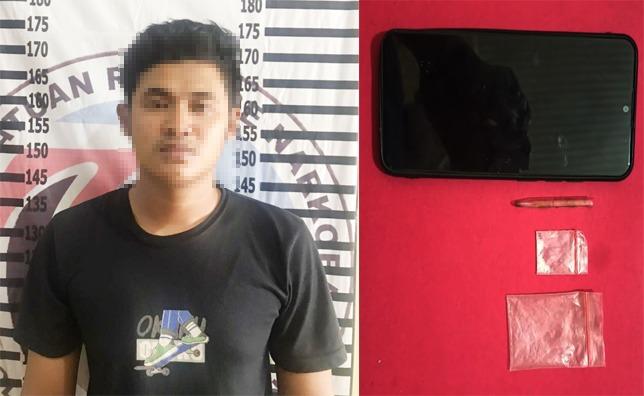 Bawa Narkotika di Depan Balai Desa, Seorang Pria Ditangkap Tim Macan Polres Tulang Bawang
