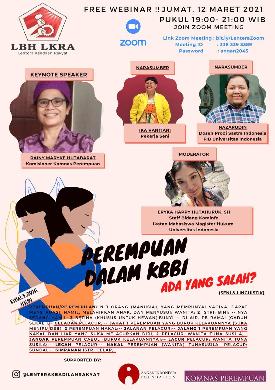 """LBH Lentera Aperesiasi Perbaikan Makna 'Perempuan"""" di KBBI"""
