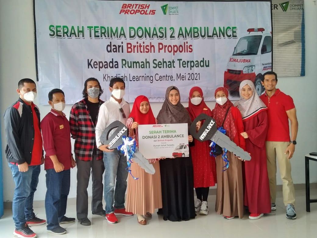 British Propolis, Salurkan 2 Mobil Ambulan Gawat Darurat Ke RST Dompet Dhuafa Bogor