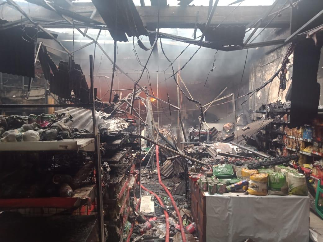 Sebuah Alfamart di Cileungsi Terbakar, Diduga Akibat Konseling Listrik