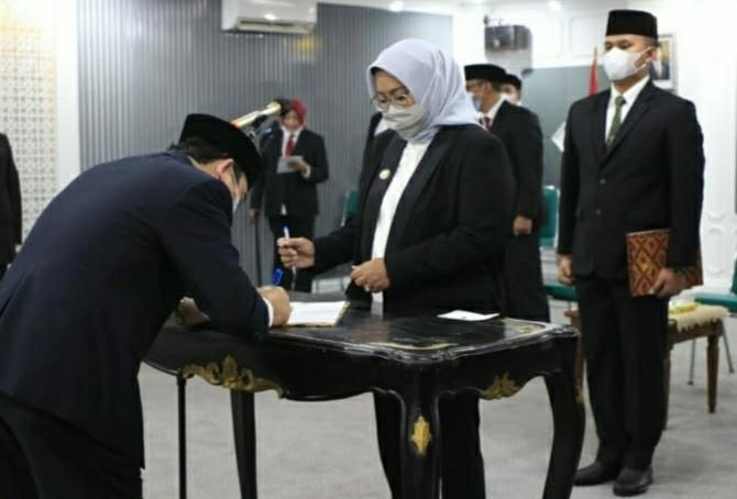 KH. Lesmana Kembali Dikukuhkan Menjadi Kepala Baznas Kabupaten Bogor