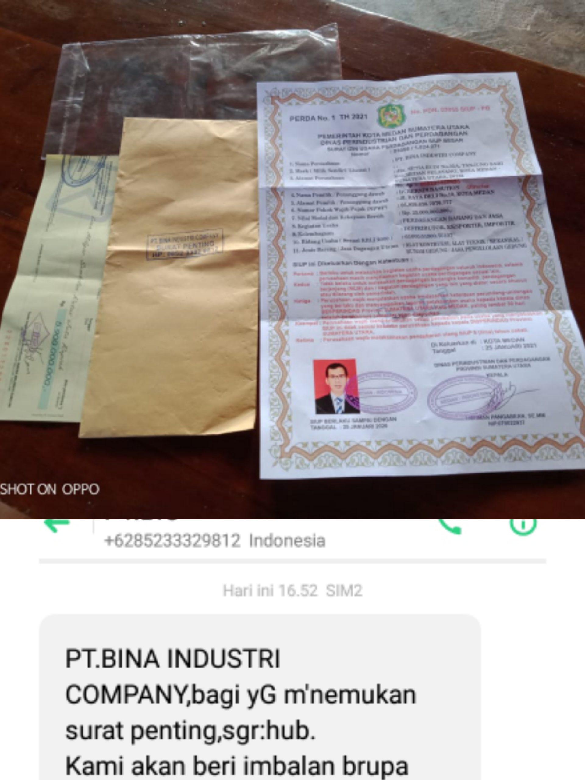 Hati-hati Penipuan, Modus Operandinya Kehilangan Surat, Penemu Diiming-imingi Imbalan