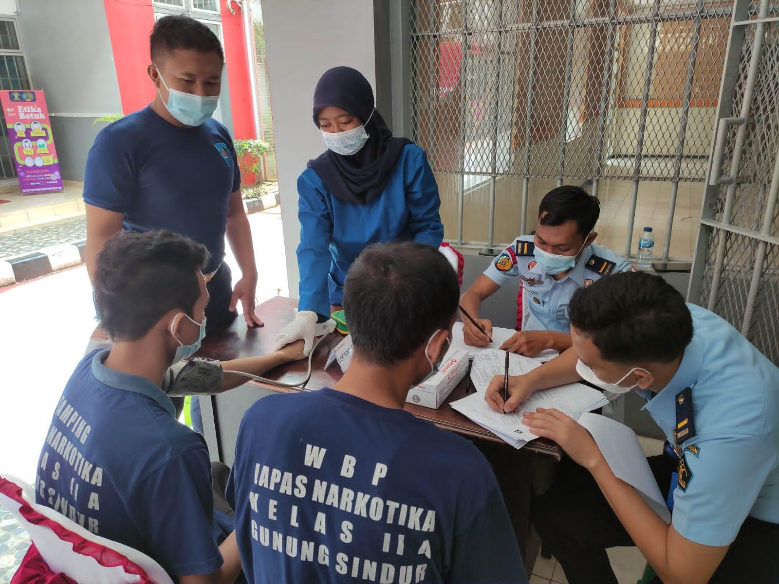 545 Warga Binaan Lapas Narkotika Kelas IIA Gunung Sindur Lakukan Vaksinasi