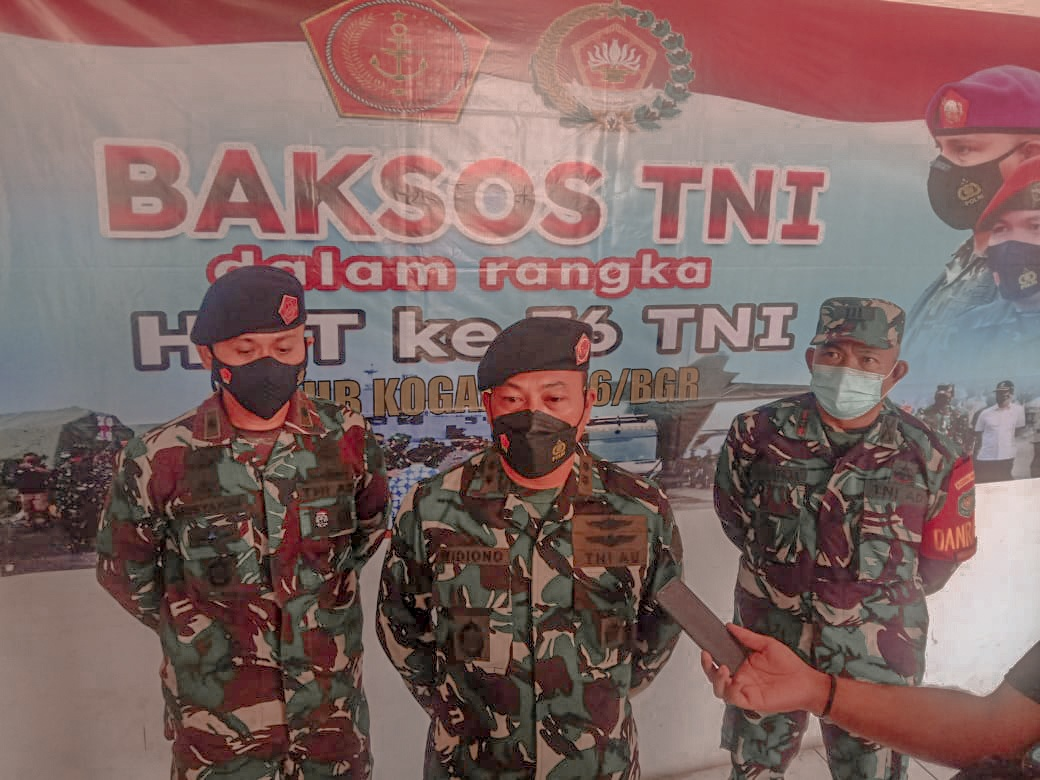 HUT TNI ke- 76, Kogartap II/ Bandung Laksanakan Bakti Sosial di Bogor